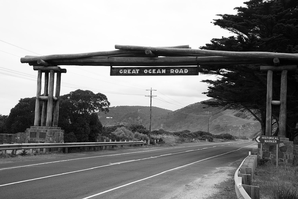 Road Trip Great Ocean Road Lorne Memorial Sign