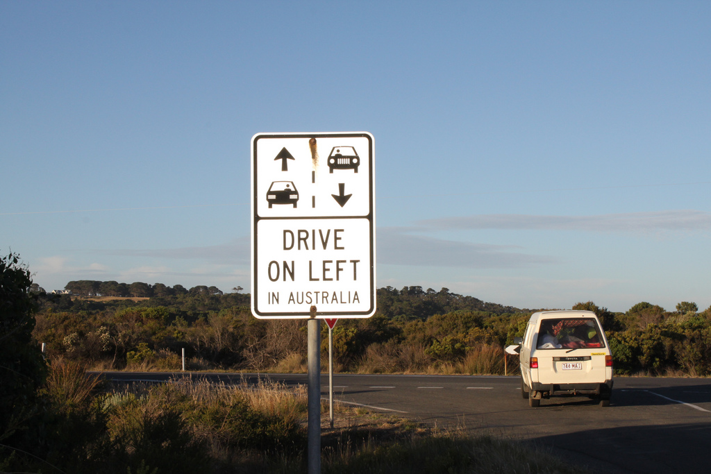 road trip Great Ocean Road sign