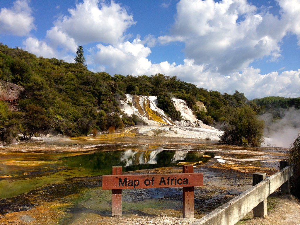 Map Of Africa Geothermal National Park