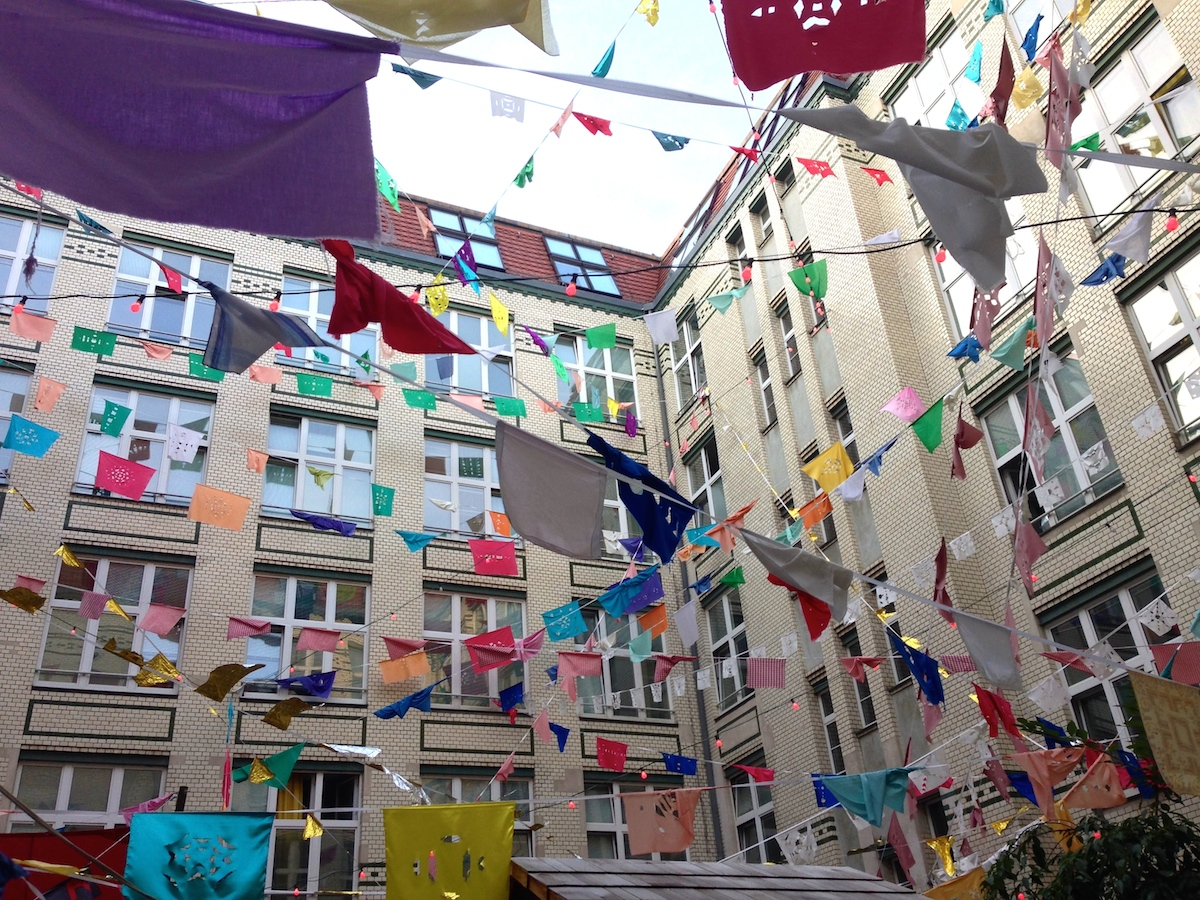 Michelberger Hotel Courtyard Prayer Flags