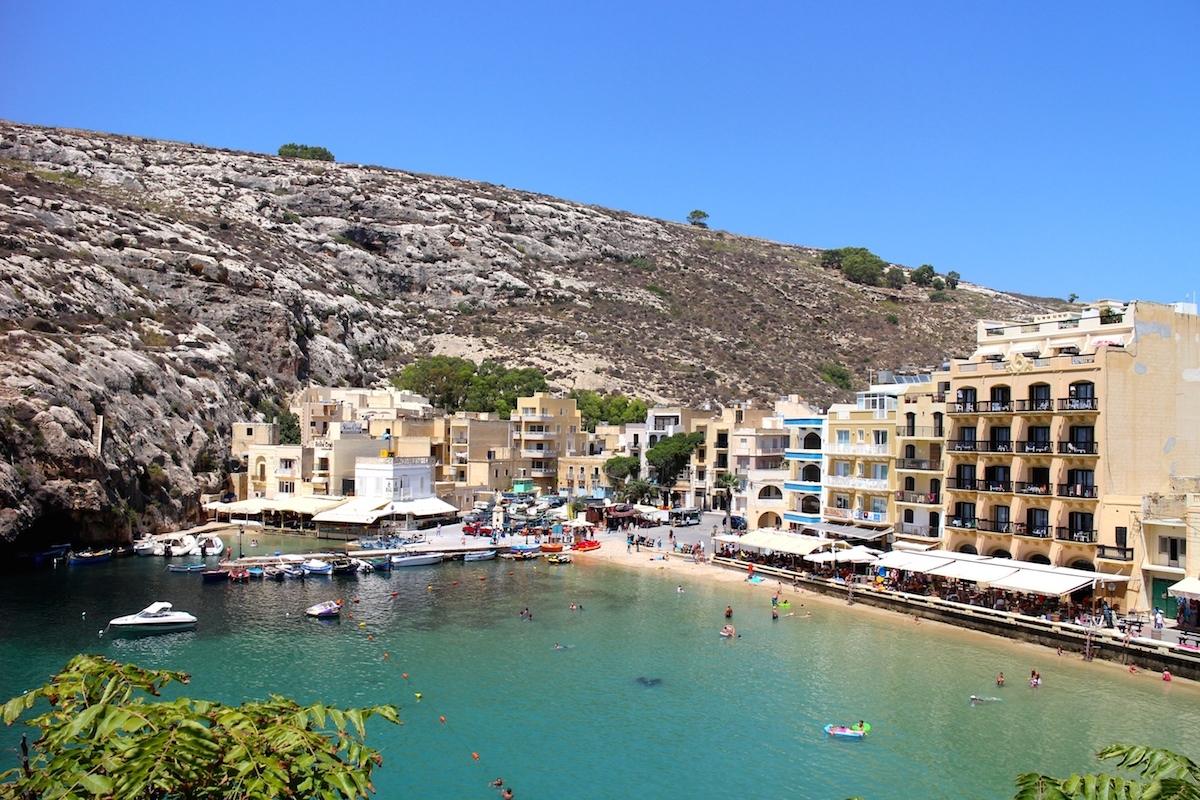 Xlendi Bay Beach Gozo