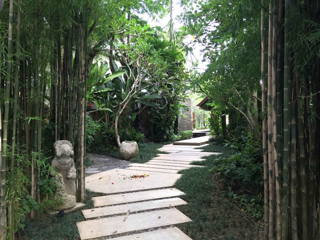 the amala hotel bali walkway