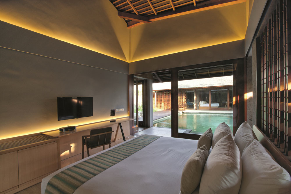 the santai villas bedroom