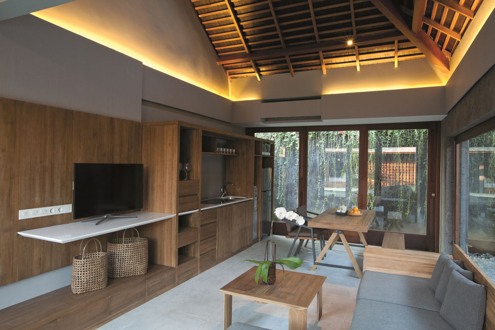 the santai villas kitchen