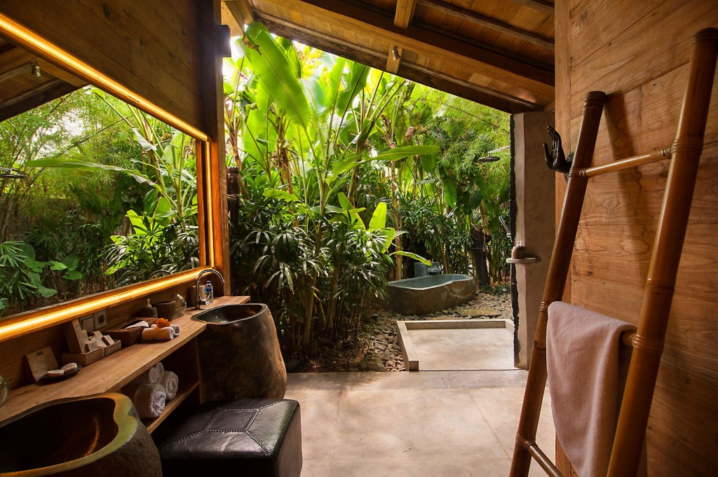 bali outoor bathrooms blue karma resort