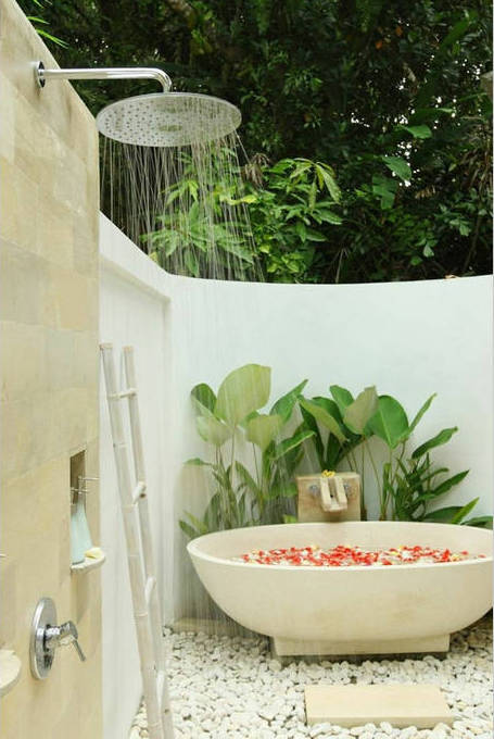 villa shamballa moon bali outdoor bathrooms