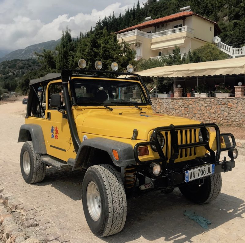 travelling the albanian coastline hire car